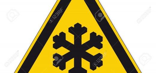 cartello pericolo gelo